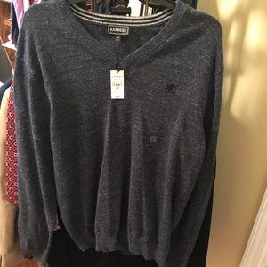 Brand New Men's Large Express V-Neck Sweater.